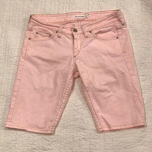 """Isabel Marant Etoile 11"""" Pink Jean Shorts"""